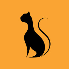 Cat icon on yellow background