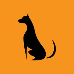 Dog icon on yellow background