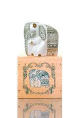 Beautiful porcelain elephant on box