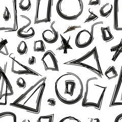 Sketched geometric shapes seamless