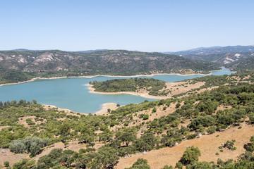 Guadarranque reservoir, Castellar de la Frontera, Andalusia, Spa