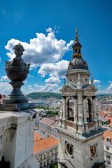 Printed kitchen splashbacks Fontaine View from St. Stephan basilica, Budapest Hungary