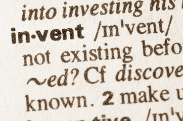 Dictionary definition of word invent