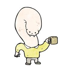 cartoon coffee monster
