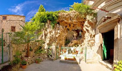 Shrine in the rock town od Sibenik