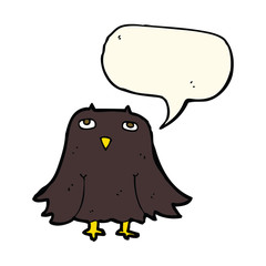 cartoon owl with speech bubble