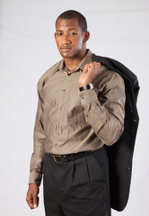 Handsome black man in a suit