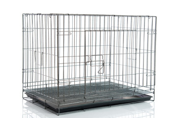 wire dog crate or animal cage