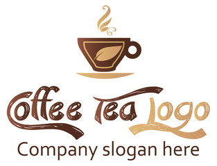 Coffee and tea logo design, vector file easy to edit.