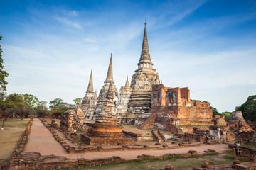 Old Temple Architecture , Wat Phra si sanphet at Ayutthaya, Thailand, World Heritage Site