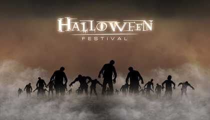 halloween festival illustration and background