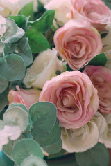 Romantic floral background/ Valentines day background/Pink roses