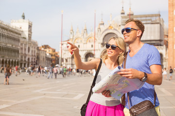 Tourists sightseeing in Venice
