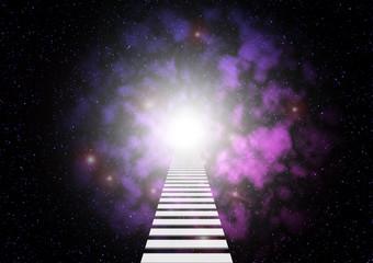 宇宙 未知 扉 はしご