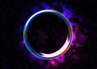 宇宙 シャボン玉 輪