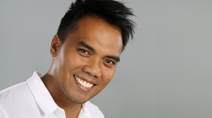 Young filipino smiling