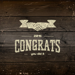 Congratulation badges cards and labels for any use