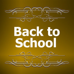 Back to School Calligraphic Designs, Retro Style Elements, Vintage Ornaments