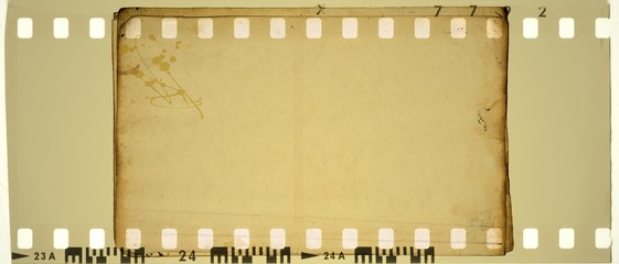 Vintage sepia film strip frame