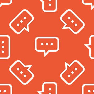 Orange typing pattern