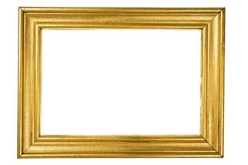 Wooden frame painted with gold