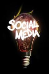 Composite image of social media