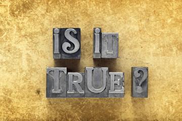 is it true q