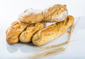 pain aux céréales et baguettes
