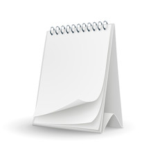 calendar template with blank page illustration isolated
