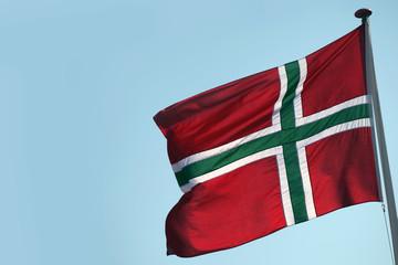 The flag of Bornholm - a Danish island