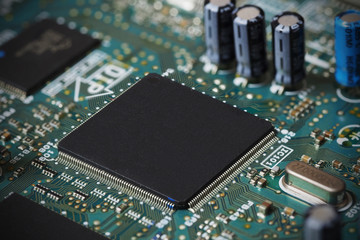 Electronic circuit board, microchip integrated on motherboard