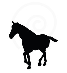 horse silhouette in loping pose