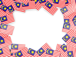Frame with flag of malaysia