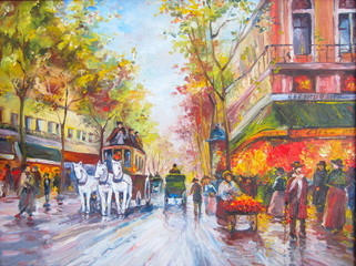 Original oil painting Paris