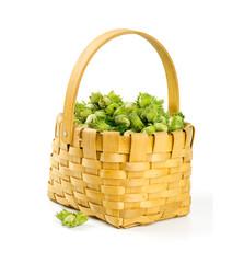 hazelnuts in a basket