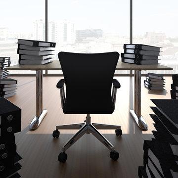 Büro voll Aktenordner