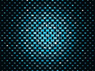 Urban mosaic abstract pattern of blue blocks