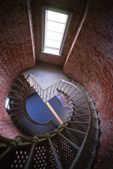 Spiral Staircase Metal Brick Architecture Historic Building Inte