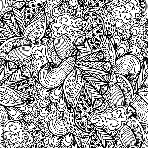 Hand Drawn Zentangle Seamless Pattern Use For Cards Invitation Wallpapers Fills