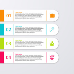 Vector illustration of four rectangles infographics