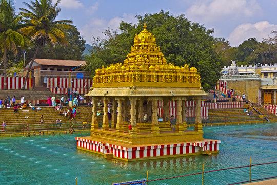 Waterpond close to Balaji temple
