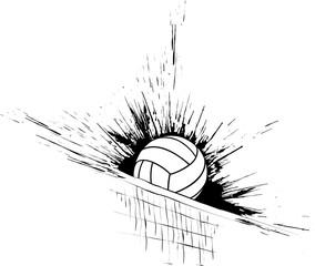 Volleyball Splatter Net