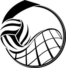Volleyball Medal Design