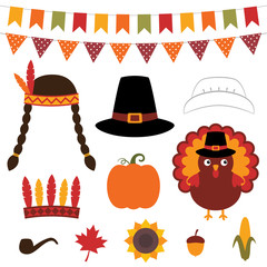 Thanksgiving decoration and photo booth props