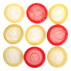 open red and yellow condoms
