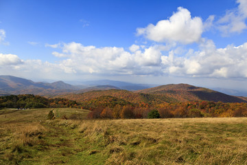 View from Max Patch Bald in North Carolina in the Fall