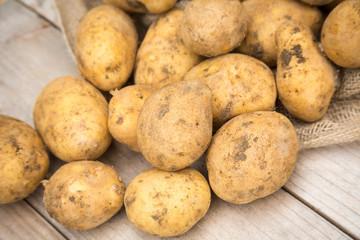 Dirty Raw White Potatoes