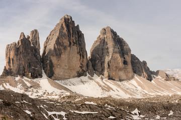 Drei Zinnen peaks in Dolomites
