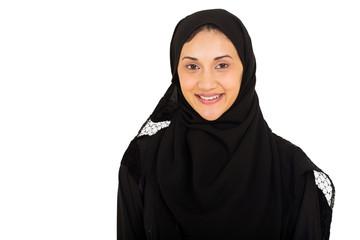 muslim woman closeup portrait