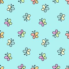 seamless baby pattern blue